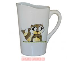 Collection Anou pichet à lait Râton Laveur | acceuil Decoration, Dishes, Mugs, Tableware, Collection, Racoon, Original Gifts, Milk, Decorating