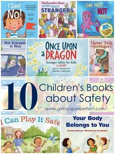 10 children's books about safety and stranger danger because being smart and safe – and teaching our kids to do the same – might save lives! Preschool Books, Book Activities, Preschool Activities, Health Activities, Educational Activities, Kids Reading, Teaching Reading, Reading Lists, Reading Books