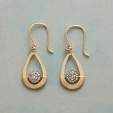 An abundance of shining diamonds gather on these lovely Dana Kellin pavé diamond earrings.