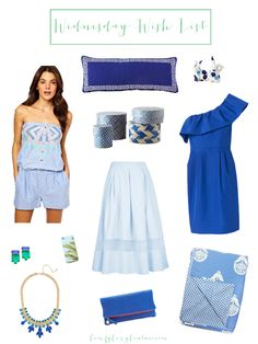 Comfy Cozy Couture | Royal Baby Wednesday wish list | Blue Summer Fashion |