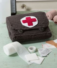 Red Heart Cares First Aid Kit -free crochet pattern-