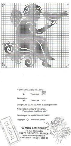 A mon ami Pierre - Pour mon ange, part. 3 Celtic Cross Stitch, Cross Stitch Angels, Beaded Cross Stitch, Cross Stitch Embroidery, Embroidery Patterns, Cross Stitch Patterns, Filet Crochet, Crochet Motif, Crochet Doilies