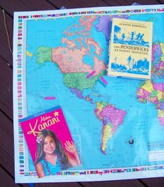 {Map Activities for Kids} Have some fun with geography by mapping the books the kids are reading!  Wonderful way to foster an interest in other countries and cultures.