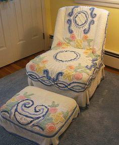 Chair with Chenille Slipcover by The T-Cozy, via Flickr
