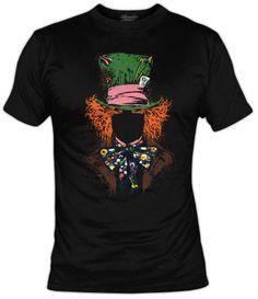 Camiseta Mad Hatter - Camisetas Disney - Camisetas Dibujos Animados - Fanisetas…