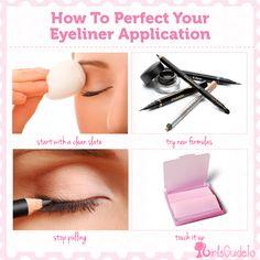 15387ac29fe6d How To Perfect Your Eyeliner Application   GirlsGuideTo Maquilhagem,  Maquiagem Linda, Dicas De Maquiagem