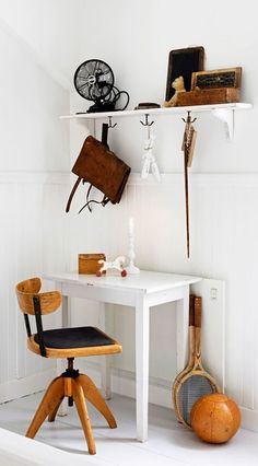 = vintage desk nook and shelf