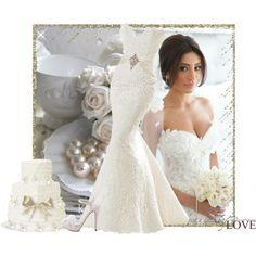 DREAM WEDDING by gerhardferreira on Polyvore featuring mode, David Tutera and Carolee