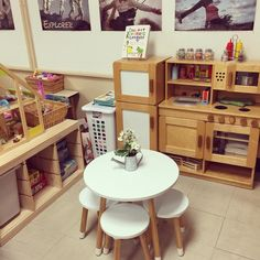 Preschool Set Up, Preschool Classroom, Dramatic Play Area, Dramatic Play Centers, Play Based Learning, Learning Through Play, Home Corner Ideas Early Years, Kids Play Store, Home Childcare
