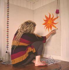 LOVE THIS. art, hippy, dreadlocks