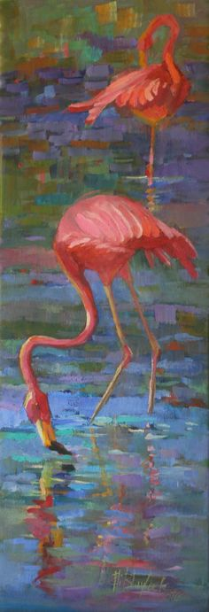 Elizabeth Blaylock, American Impressionist, Flamingo
