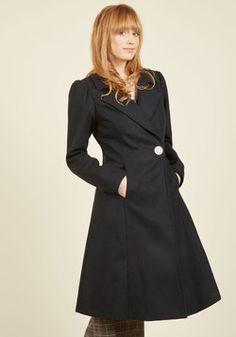 Fall in Love Coat in Onyx
