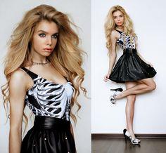Я в туфлях апокалипсиса (by Ekaterina Normalnaya) http://lookbook.nu/look/4571039-Black-Milk-Clothing-Ribes-Dress-Romwe-Stud-Skirt