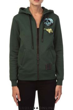 Love to wear sporty outfits? Disney X Coach jersey hoodie in dark green is available on Adriana Online. Sporty Outfits, Sporty Style, Coach 1941, Hooded Jacket, Clothes For Women, Hoodies, Dark, Disney, Womens Fashion