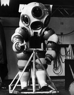 Long before we had spacesuits, we had diving suits. The ocean was the first hostile environment that we sent people into, completely covered with protective gear. And the suits that people created with late-18th century or 19th century technology are astonighing to behold. See for yourself!
