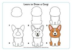 Kids can use this printable to discover how easy it is to learn to draw their own cartoon dog or puppy! Description from activityvillage.co.uk. I searched for this on bing.com/images                                                                                                                                                     More