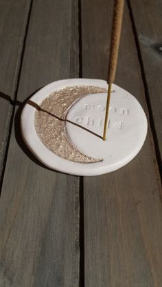 Moon Child clay Incense holder by WearsGoodShop on Etsy