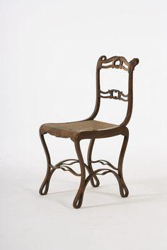 "c1840 bent/laminated """"Boppard"" chair, Michael Thonet, Rhein, Germany, bent/laminated/mah veneer, 33t, 5-40."