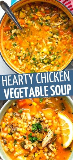 This hearty and healthy chicken vegetable soup is perfect for chilly days! Packed with vegetables and easy to make on the stove or your Instant Pot. Slimming World friendly!