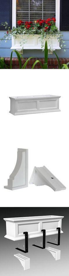 Baskets Pots and Window Boxes 20518: New Mayne Fairfield 36 Window Box Combo With Corbel Brackets - White 3 -> BUY IT NOW ONLY: $149.99 on eBay!