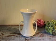 Vintage White Art Deco Vase by Abingdon USA #116 Art Pottery Collectible Pottery by CottageBlu on Etsy