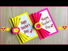 Easy and beautiful card for teacher's day / Teacher's day card making ideas / DIY teacher's day card - Ecraftspro Teachers Day Greeting Card, Greeting Cards For Teachers, Teachers Day Wishes, Teacher Thank You Cards, Teachers Day Gifts, Teacher Appreciation Cards, Teacher Valentine, Birthday Wishes Cards, Teachers' Day