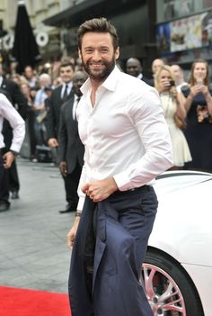 Hugh Jackman at the world premiere of The Wolverine, July 16th OH GOD
