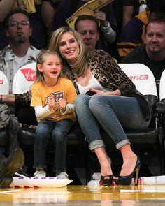 Heidi Klum- stylish mom