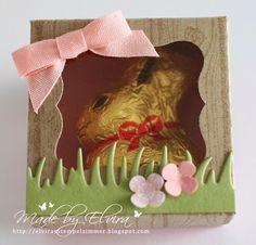 Verpackung für Mini Osterhasen mit Produkten von Stampin Up Österreich