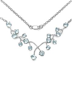 Sterling Silver Round-Cut Blue Topaz Branch Necklace by Olivia Leone on @HauteLook