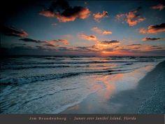 """Sunset over Sanibel Island, Florida"" - Beach and Coastal Views posters and prints available at Barewalls.com"