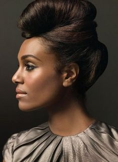 Stunning bride/ bridal hair for black women