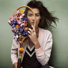 Sportsing it up with flower power! Inspiration for active shoots.