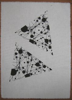 Siebdruck Stoff Druck Poster Geometrisch Dreieck von Druckreif auf DaWanda.com