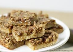 Easy Pecan Pie Bars with Sugar Cookie Crust — Celebrations at Home
