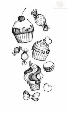This going up my leg with more candy and goodyear or all my sisters names in it in fancy writing yes yes a million times yes Trendy Tattoos, Love Tattoos, Body Art Tattoos, New Tattoos, Tattoo Arm, Sweet Tattoos, Ankle Tattoo, Tatoos, Kunst Tattoos