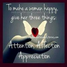 Secret to making Women Happy...as a woman, This is sound advice. (Does not apply to Gold-diggers, dramatic BabyMammas, or otherwisre immature or egocentric individual females).