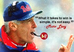 """What it takes to win is simple, it's not easy."" - #MarvLevy"