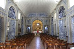 Church within the fort overlooking Sesimbra, Portugal