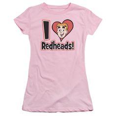 Archie Comics: I Love Redheads Junior T-Shirt