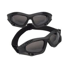 Miltary goggles tactical goggles black ($11) ❤ liked on Polyvore featuring accessories and glasses