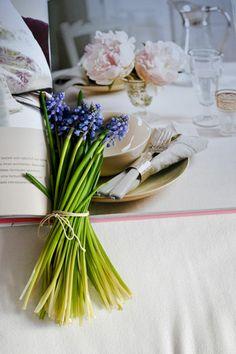 Hyazinten, #flowers, #frühling, #tischdeko, #marthas, www.martha-s.de