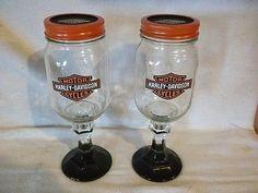 Harley Davidson Redneck Wine Glasses Blk Btm