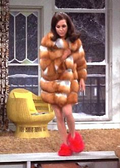 Mary Tyler Moore & Red Fuzzy Slippers...such a funny episode! So something I'd throw on in a moment of rush