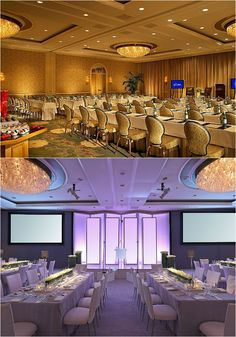 Four Seasons Hotel Los Angeles transforms their grand ballroom into a hip, stripped down gathering space for hi-tech groups. Meeting Venue, Evergreen Forest, Function Room, Ballrooms, Four Seasons Hotel, Beverly Hills, Terrace, Tech, Ceiling Lights