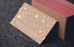 Laura Blythman business card | foiling | edge painting | printed by stitchpress.com.au