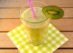 Gezonde smoothie met banaan, kiwi en jus d'orange - Lekker en Simpel