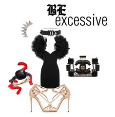 Be excessive outfit ! by manon-bdm on Polyvore featuring mode, Yves Saint Laurent, Dolce&Gabbana, Chanel, Pomellato, Alexander Wang, Topshop, Night and saintlaurent