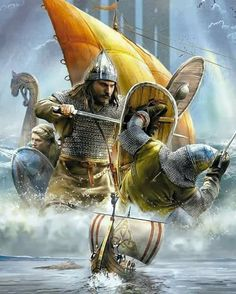 Viking raids have become one of the most influential historical events that earn the Vikings power and reputation. Viking raids were not something evil to the Vikings. Viking Warrior, Viking Life, Ancient Vikings, Norse Vikings, Vikings Rollo, Viking Drawings, Viking Facts, Norwegian Vikings, Viking Ship
