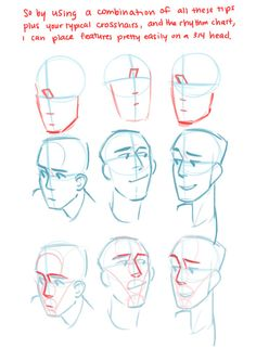 Hey! So kowaii–desu recently requested a ¾ head drawing tutorial and Tumblr kept botching the quality when I tried to respond to her ask, so here it is as a separate post in MUCH higher resolution! Again, I hope it's not too convoluted and is able to help! Thanks!